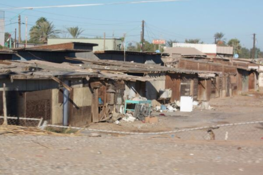 Housing in one of the communities we serve in Puerto Peñasco. We can change this #GivingTuesday