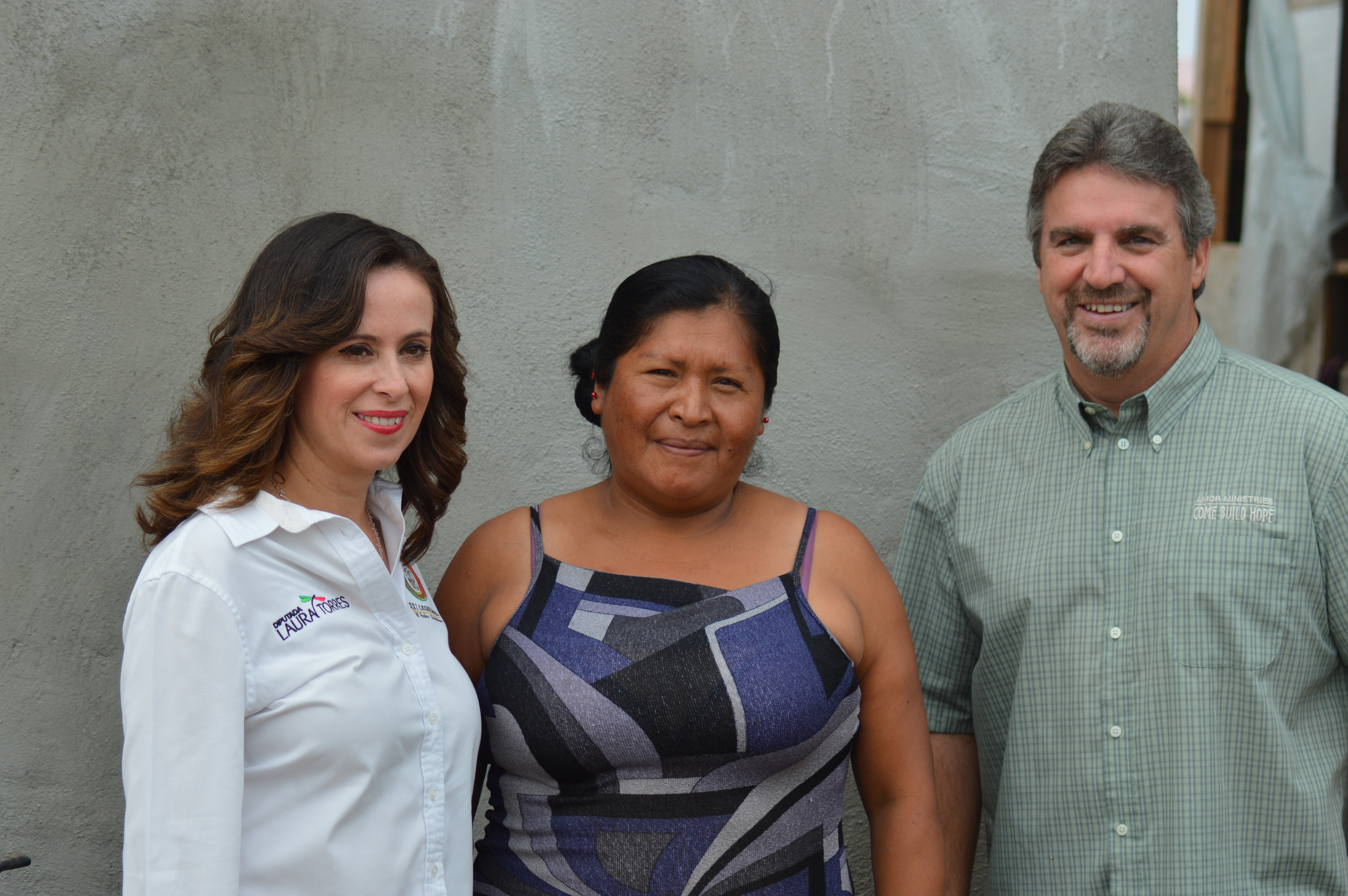 Laura Torres meeting beneficiary in Rosarito